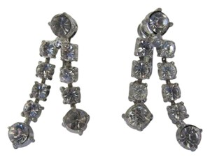 VINTAGE VINTAGE SCREW ON RHINESTONE EARRINGS