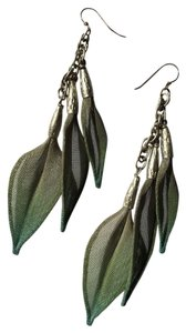 Sarah Cavender Metalworks Mesh Leaves Dangle Earrings