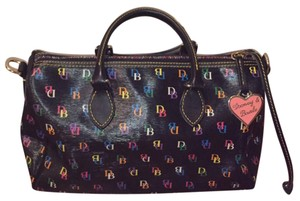 Dooney & Bourke Satchel in black / multi color