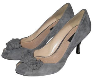Zara Pump Peep Toe suede grey Pumps