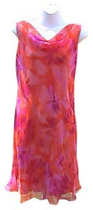 Sfuzi short dress Orange Floral Sleeveless on Tradesy