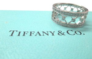 Tiffany & Co. Tiffany & Co. Voile Platinum Diamond Weave Women's Wedding Band Size 6.5