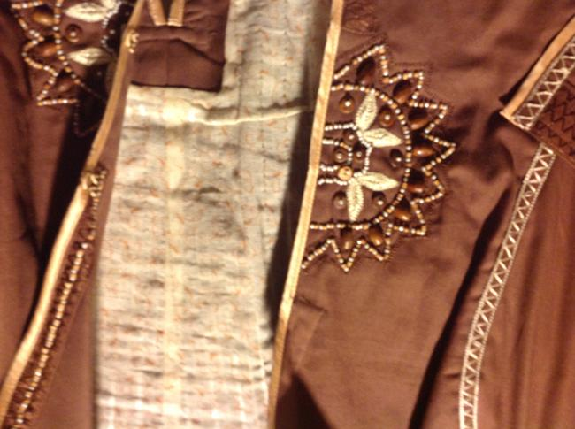 The Limited Blazer Stitching Beading To Add Flair Slight Western Theme Wear All Seasons Brown, with beige accents Jacket Image 1