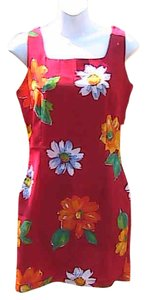 Match short dress RED Floral on Tradesy