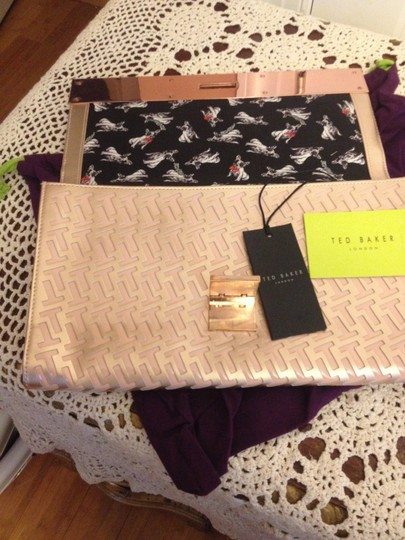 Ted Baker Pink Gold Clutch