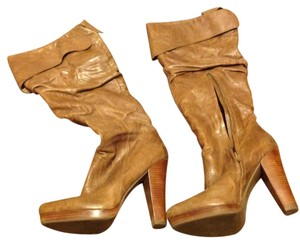 Jessica Simpson Over The Knee Tan Boots