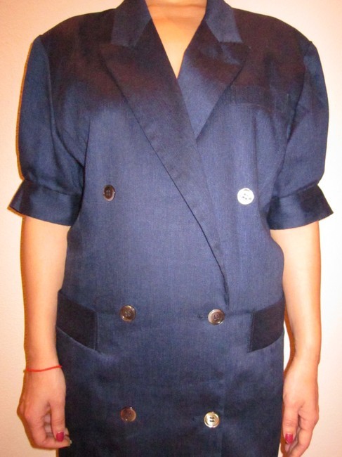 Japanese Puff Shoulder Double-Breasted Jacket Blazer. Tunic