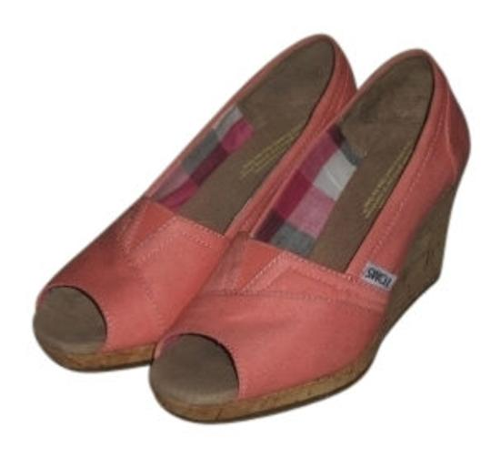 Preload https://item5.tradesy.com/images/toms-coral-canvas-wedges-size-us-5-regular-m-b-7284-0-0.jpg?width=440&height=440