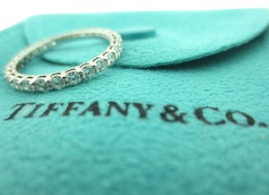 Tiffany & Co. TIFFANY & CO. SHARED SETTING FULL CIRCLE .86 DIAMOND PLATINUM WEDDING RING 6