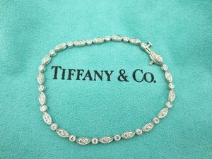 Tiffany & Co. Genuine / Authentic Tiffany & Co Jazz Bracelet in Platinum with Diamonds 1.60ct