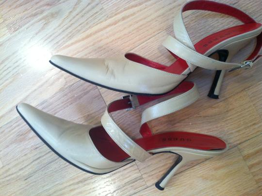 Guess Leather Ankle Strap Sexy Tan Beige TAUPE Pumps