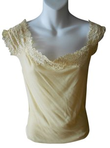 Moda International Cream Lace Top CREAM/EGG SHELL