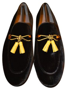 Magnanni Magnanni Black Velvet Mens Loafer Formal