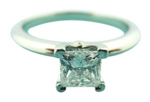 Tiffany & Co. Tiffany & Co Platinum GIA .57ct E VS2 Princess Diamond Solitaire Engagement Ring