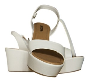 Soda Blu Platform White Wedges