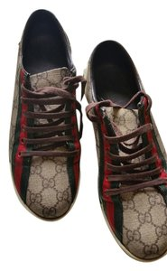 Gucci RED AND GREEN ON BROWN Athletic