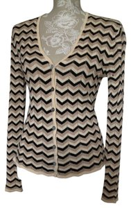 Laundry by Shelli Segal Chevron Off Button Down Cardigan Sweater