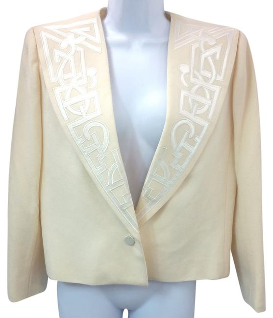 Preload https://img-static.tradesy.com/item/7288258/nolan-miller-beige-dynasty-collection-wool-jacket-blazer-size-8-m-0-0-650-650.jpg