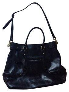 Cole Haan Leather Crossbody Tote in Black