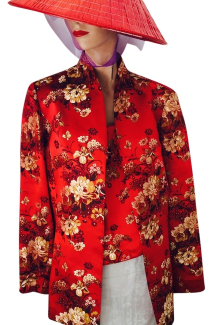 Preload https://img-static.tradesy.com/item/7288963/flores-and-flores-red-gold-black-white-matching-top-with-2-pc-asian-style-new-spring-jacket-size-12-0-1-650-650.jpg
