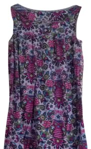 Nick & Nora short dress Blue, Floral, Owl Print on Tradesy