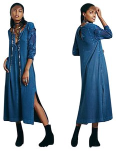 Blue saphire Maxi Dress by Free People