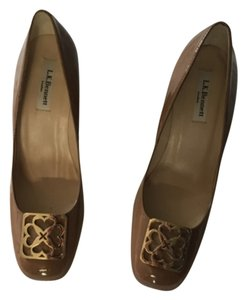 L.K. Bennett Coffee /nude Pumps