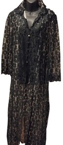 Hollywood by Munsing Vintage Floral Lace Robe Size 5/6