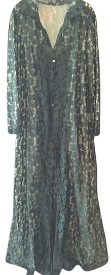 Hollywood by Munsing Vintage Floral Lace Robe Size 5/6 Image 2