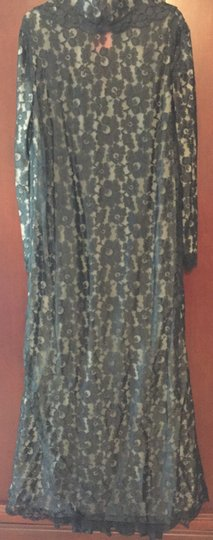Hollywood by Munsing Vintage Floral Lace Robe Size 5/6 Image 3