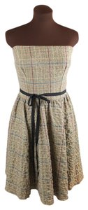 Corey Lynn Calter Fit And Flare Strapless Tweed Dress