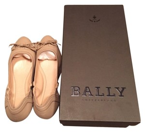 Bally Light Brown Flats