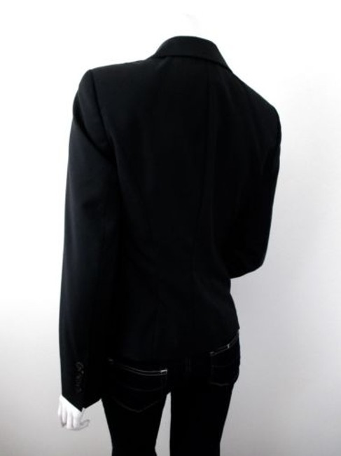 Escada Escada Black 100 Virgin Wool Button Front Blazer Jacket Eur Image 1