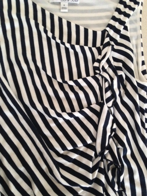 Lucy & Laurel short dress navy and white Cotton Striped on Tradesy