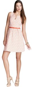 Trina Turk short dress Bellini Fit And Flare Jacquard Structured V Neck on Tradesy
