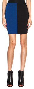 Alexander Wang Rayon Fitted Color Sexy Skirt Black & Viper