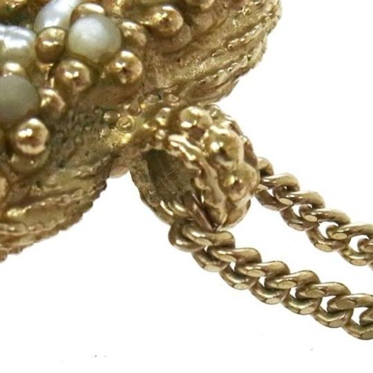 Chanel Authentic CHANEL Vintage CC Logos Imitation Pearl Necklace A11C France gold Image 2