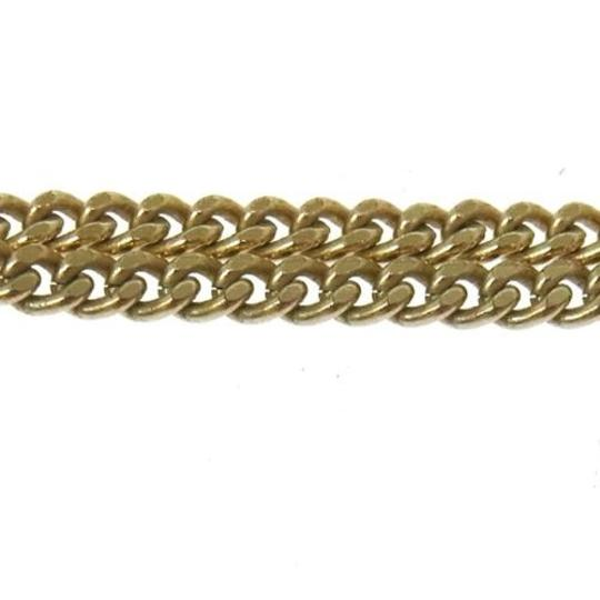 Chanel Authentic CHANEL Vintage CC Logos Imitation Pearl Necklace A11C France gold Image 4