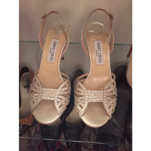 Jimmy Choo Ivory/Off White/Cream Sandals Size US 9 Regular (M, B)