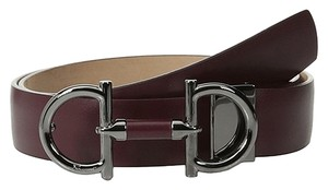 Salvatore Ferragamo Salvatore Ferragamo Parigi Wine Leather Adjustable Belt Style 679154 Size 32