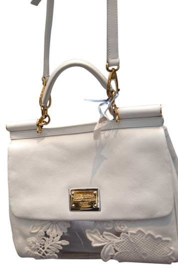 Preload https://img-static.tradesy.com/item/729179/dolce-and-gabbana-dolce-and-gabbana-lace-white-leather-shoulder-bag-0-0-540-540.jpg