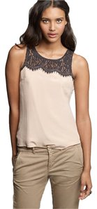 J.Crew Top Beige with Black Lace