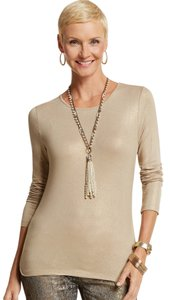 Chico's Chicos Knit Karina Top Silver