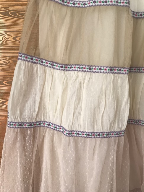 Free People Petticoat Embroidered Skirt White, Ivory