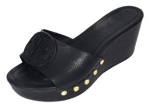 51b9fcd4022b Black Tory Burch Wedges - Up to 90% off at Tradesy