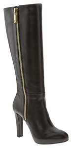 Banana Republic Zipper Platform Black Boots