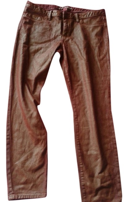 Item - Red Acid Coated Skinny Jeans Size 31 (6, M)
