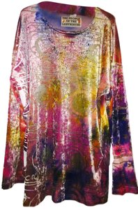 THE PEOPLE OF THE LABYRINTHS Vintage Velvet Tunic