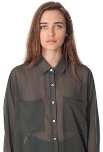 American Apparel Top Olive Green
