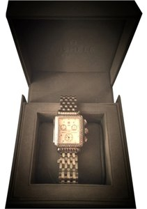 Michele Signature Deco Diamond, Diamond Dial Watch 16 Art Deco Diamond Chronograph Watch